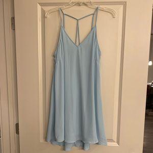 Lush Baby Blue Strappy Back Dress - Medium - NWOT